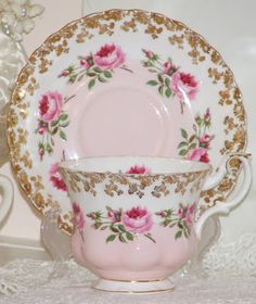 This is another one of my newest teacups, and I'm in love, love, Love .    I don't know anything about it except that it's a Royal Albert. ...