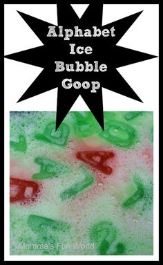 Bubble goop letter learning. Fun way to practice letters and have hands on sensory play at the same time.