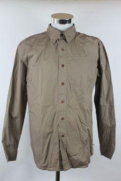 Marmot Button Front Shirt men size Medium Khaki Beige Outdoor Camping Hiking L/S #Marmot #ButtonFront