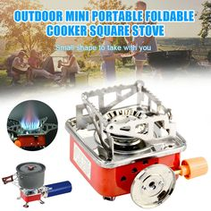 Windproof Foldable Stove Burner 🔥 - Hey Specials - Windproof Foldable Stove Burner 🔥 Outdoor portable folding mini camping gas stove, ✅small size ✅easy to carry ✅ outdoor essential 🤗🤗🤗 - Bushcraft Camping, Camping Survival, Survival Tips, Tent Camping, Survival Skills, Camping Gear, Outdoor Camping, Camping Lights, Family Camping
