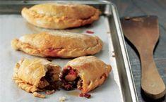 Potato, Pepper, and Chorizo Empañadas Chorizo And Potato, Pandesal, Empanadas Recipe, Potato Pie, Meat Recipes, Hot Dog Buns, Entrees, Tapas
