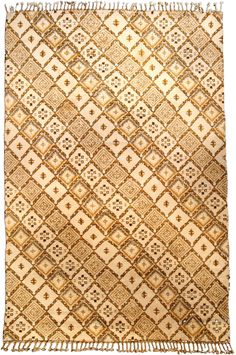 A Moroccan carpet BB4233 - A second quarter 20th century carpet from Morocco having an overall lozenge lattice with diamond geometric shapes ...