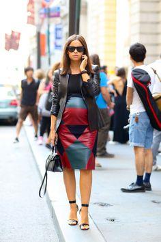 Miroslava Duma pregnant new york fashion week 2015