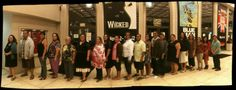 We decided to go panoramic with our picture taking before #Wicked. Gang all got lined up and it worked.