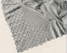 Knitted Baby Afghan No. 5295