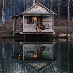 Photo by @fordyates #cabinbythelake #cabin #peaceful