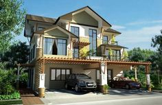 Small house design philippines modern luxury house exterior designs 2 storey small house design philippines with . Tropical House Design, Small House Design, Luxury Homes Exterior, Exterior Design, Porches, Philippine Houses, Asian House, Modern Asian, Mansions Homes