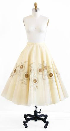 vintage 1950s skirt / 50s wedding dress / by RococoVintage on Etsy