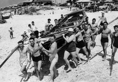 Surfers Paradise Surf Life Saving Club members, circa 1940s. Photographer unknown
