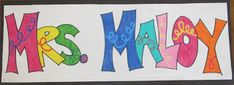 Name Posters- cute 1st day of school activity. Keeps them busy while dealing with first day paperwork/parents/questions as students come in.