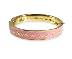 "Disney Couture Cinderella Bracelet - says ""Have Faith In Your Dreams"""