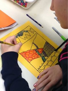 Art at Becker Middle School: (Mini) Zentangle Landscapes