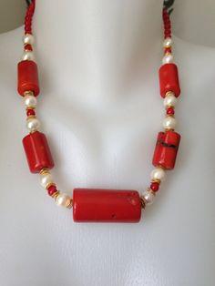 Declaración collar joyería de Coral collar collar étnico