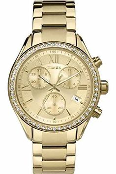 Timex TW2P66900 Ladies Miami Gold Chronograph Watch *** You can find more details by visiting the image link.