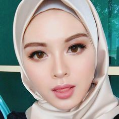 Pin Image by Gadis Sweets Beautiful Hijab Girl, Beautiful Muslim Women, Beautiful Eyes, Sweet Makeup, Iranian Women, Hijab Chic, Girl Hijab, Beauty Full Girl, Pretty Face