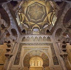 Caliph's prayer niche, Cordoba's Great Mosque, 10th century, Spain