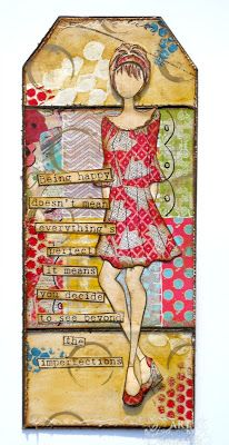 Designs by Lisa Somerville: Beyond the Imperfections - Mixed Media Tag