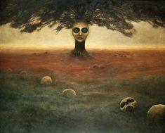 Zdzislaw Beksinski Gallery: Zdzisław Beksinski's Paintings from 1972