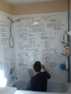 Bathmatics. One day you guys are going to walk into the bathroom and I will be doing this lol.