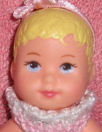 Baby Sister Krissy is a darling li'l baby.   Stroll'n Play 3-in-1-Fun Barbie & Krissy 2001 Gift Set    Krissy headmold  Marked 1998