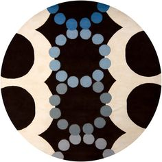 'Avalisa - 6111 - Hand-Tufted Round Contemporary Rug by Chandra. @2Modern'