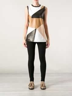 GIVENCHY - patchwork leather top 7