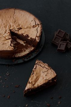 Tarta de espresso y chocolate (sin harina)