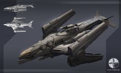 Concept spaceship by the Four Horsemen