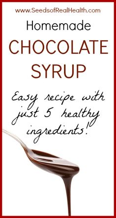 Homemade Chocolate Syrup Recipe - no refined sugars!