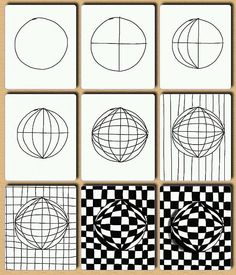 Op art, also known as optical art, is a style of visual art that uses optical illusions. Op art works are abstract, with many better-known pieces created in black and white. Illusion Kunst, Illusion Drawings, Middle School Art, Art School, Op Art Lessons, 5th Grade Art, Art Worksheets, School Art Projects, Zentangle Patterns