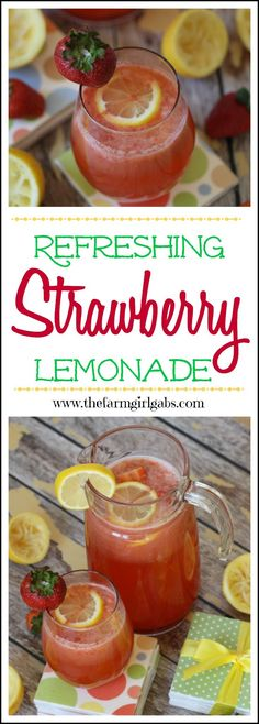 This refreshing Strawberry Lemonade recipe will be a hit with kids and adults. It's the perfect drink for summer.