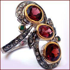 #Diamondring #Garnetring #Rosecutring #Vintagering #Antiquering #Victorianring