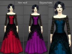 #Sims4 #S4Women | TatyanaName's Vampire Lace dress