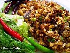 Lahb Gai (ลาบไก่) Spicy Minced Chicken Salad