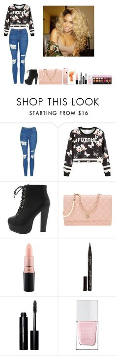 """""""-Glo Queen"""" by thegloup-reina on Polyvore featuring Topshop, WithChic, Chanel, MAC Cosmetics, Smith & Cult, Bobbi Brown Cosmetics, The Hand & Foot Spa and Anaïs"""