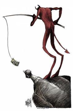 El cebo del diablo dinero, cebo, diablo, avaricia, corrupcion,
