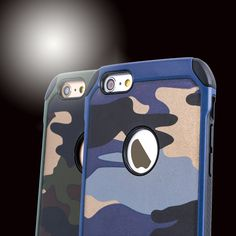 New Arrival 2in1 PC+TPU Army Camouflage Pattern Armor Anti-knock Phone Cases Back Cover for iPhone 5 5S SE 6 6S 6Plus 7 Plus