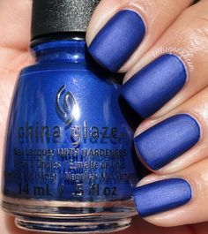 China Glaze — Combat Blue-ts (Rebel Collection | Fall 2016)