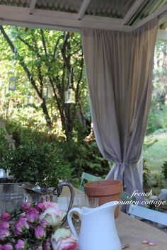 FRENCH COUNTRY COTTAGE: Outdoor Drop Cloth Panels