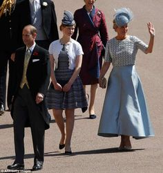 Lady Louise, 14, looked all-grown up as she joined her parents Sophie Countess of Wessex a...