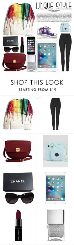 """""""Rainbow Style"""" by dreamingdaisy ❤ liked on Polyvore featuring Topshop, The Code, Converse, Chanel, Smashbox, women's clothing, women's fashion, women, female and woman"""