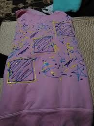 puffy painted clothing