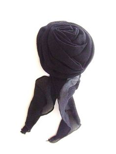 New Escada Black Silk Camellia Rose Jacket Pin Brooch