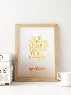 "Roald Dahl ""A Little Nonsense Now and Then"" Quote Art 8.5x11 inch on 65 lb White Paper"