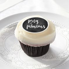 Forty & Fabulous - 40th Birthday Edible Frosting Rounds  https://www.zazzle.com/z/35cip