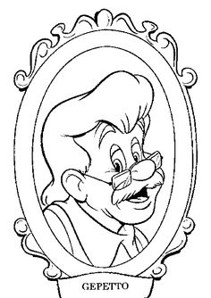 Pinocchio color page, disney coloring pages, color plate, coloring sheet,printable coloring picture
