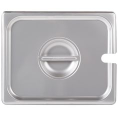 Accessing your side dishes and desserts is effortless with this 1/2 size flat stainless steel steam table pan cover. Keep your food enclosed with this lid to ensure that your guests always dig into something steamy. Opening and closing is also made easy with a flat, center handle. An open slot at the side of the lid also allows for fast access to a kitchen tool, like a ladle. Scoop out a serving of your scorching hot homemade crab bisque! It is made of durable stainless steel, so you can...