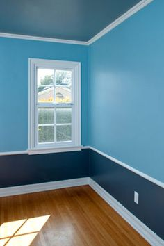 Though most people default to white paint overhead, color gives you something interesting to look at. Gray-blues, lavenders, and buttery yellows draw the eye up without being too brash. Diy Casa, Diy Home Decor Projects, Decor Ideas, Room Ideas, Boys Room Paint Ideas, Kids Rooms, Decorating On A Budget, House Painting, Home Painting Ideas