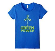 Womens CleanEatology: Green Power T-Shirt Small Royal Blu...