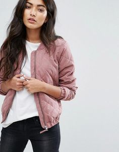 JDY Quilted Bomber Jacket